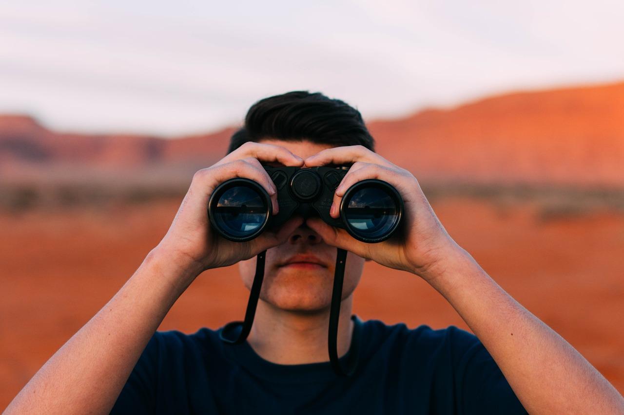 双眼鏡で探す